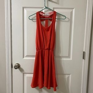 Coveted Clothing Reddish-Pink Bow Back Dress